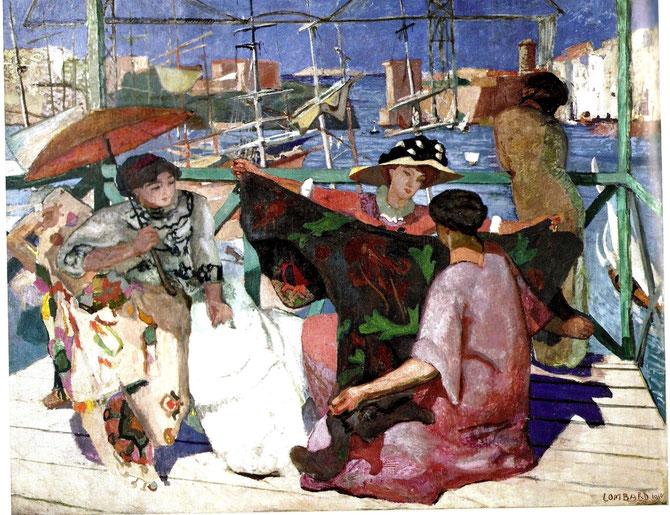 1910. LA TERRASSE SUR LE VIEUX PORT DE MARSEILLE. HUILE SUR TOILE 295 X 240cm. MuMa MUSEE D'ART MODERNE ANDRE MALRAUX, LE HAVRE.