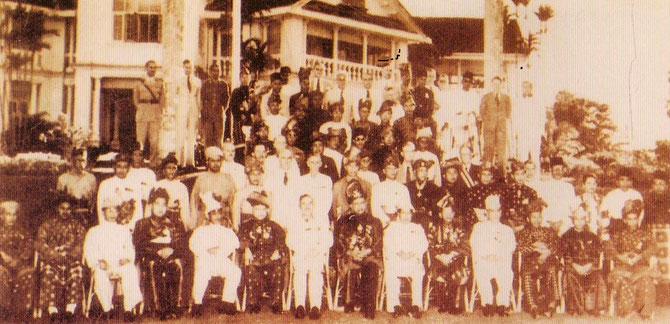 18 FEVRIER 1948. MAISON DU ROI à KUALA LUMPUR . ASSEMBLEE LEGISLATIVE DE LA 1ere FEDERATION DE MALAISIE