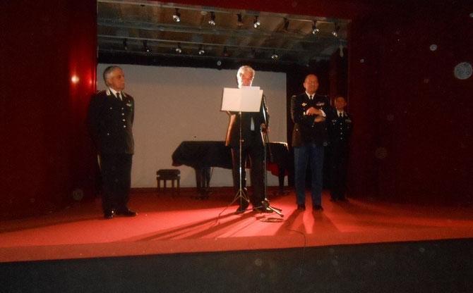 Général Riccardo AMATO, Son Exc. Fabrizio MAZZA, Général David GALTIER,  Général Paolo CARRA