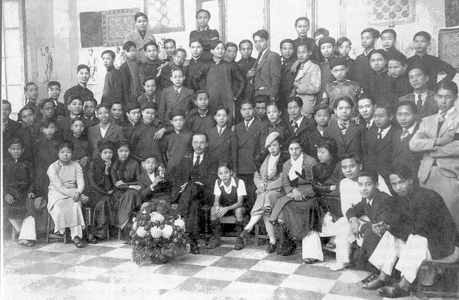 1936. NAM SON ET SES ELEVES DE L' E.S B A I.  C*. DINH T. H.