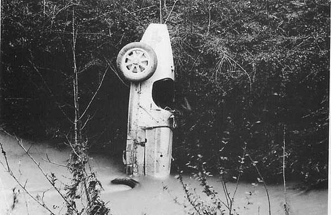 15 AVRIL 1928. ACCIDENT SPECTACULAIRE DE LA BUGATTI  Type 35C conduit par PIETRO BORDINO (1887+15 Avril 1928) lors des essais pour TARGA FLORIO