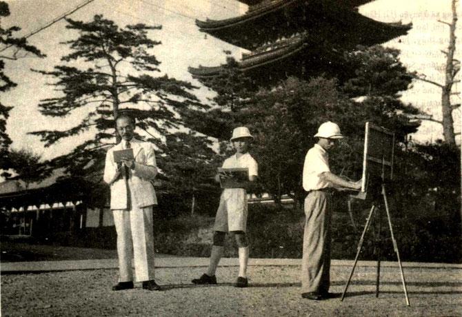 1943. NAM SON AU JAPON AVEC 2 DE SES ELEVES : LUONG XUÂN NHI et NGUYÊN VAN TY.  C* NGÔ KIM-KHÔI.