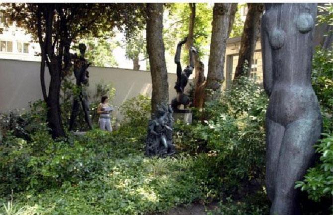 MUSEE ZADKINE 100 RUE D'ASSAS PARIS 6è. FRANCOIS BOUCHé Y A PASSE QUELQUES BELLES JOURNEES D'APPRENTISSAGE