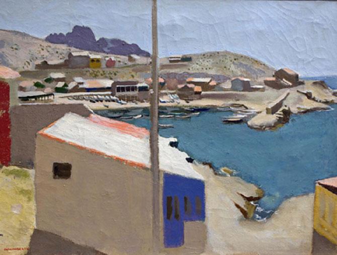 CABANON AUX GOUDES à Marseille huile sur toile 46X61cm. Collection Fondation Regards de Provence