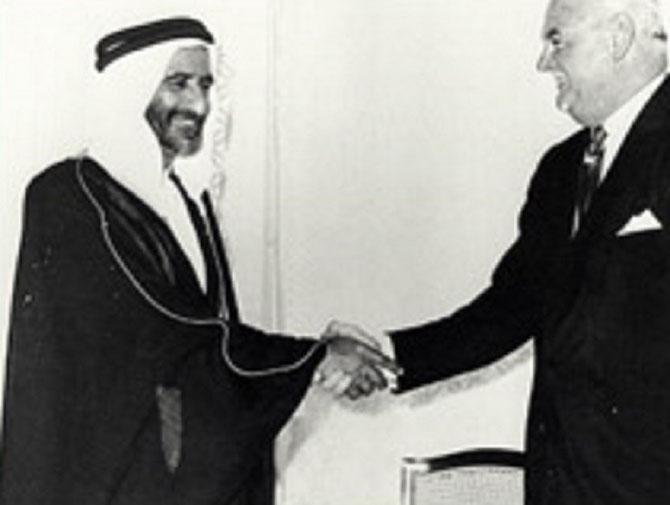 "AVRIL 1963. CONSTITUTION DE ""DUBAI PETROLEUM"" POUR PROSPECTER FATEH FIELD"