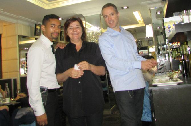 gauche à droite : MISTER ADRIEN, MISS LISA, MISTER GUILLAUME BAUDEMONT, UN DES 2 DIRECTEURS.
