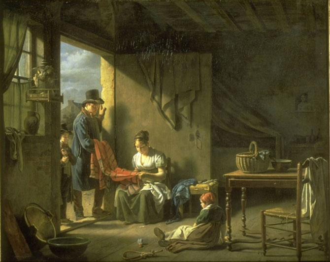 LE MARCHAND DE TISSUS . MARTIN DROLLING (1752 + 1817)