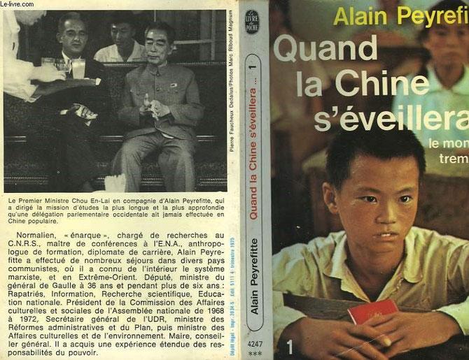 ALAIN PEYREFITTE (1925-1999) et CHOU EN-LAI (1898-1976) PREMIER MINISTRE DE LA REPUBLIQUE POPULAIRE DE CHINE DE 1949 à SA MORT.