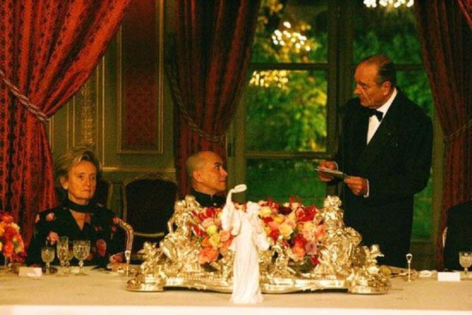Lundi 20 Nov. 2006. DÎNER D'ETAT  offert par le Pt. et Mme Jacques CHIRAC en l'honneur du ROI.