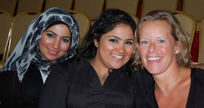 THE THREE SHEIKHA LADIES.