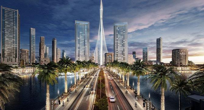 """LUNDI 10 OCTOBRE 2016. S.A L'EMIR MOHAMMED A LANCE LA CONSTRUCTION DE """"THE TOWER"""", 100m DE PLUS QUE BURJ KHALIFA (828M). ELLE SERA PRÊTE POUR L' EXPO UNIVERSELLE DE 2020."""