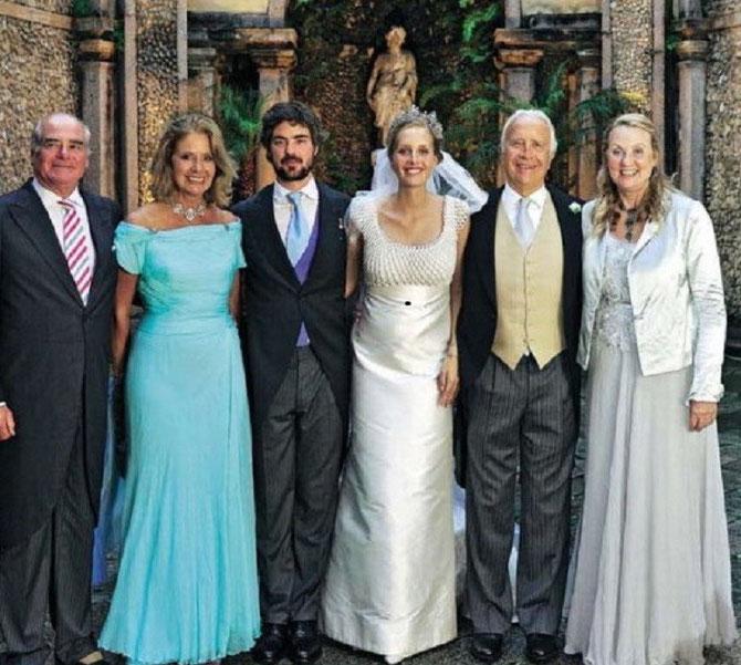 11 Juin 2011. Matilde avec le Prince Antonius Von Furstenberg et ses parents g.. A dte. Comte Carlo Borromeo et Marion Zota maman de Béatrice