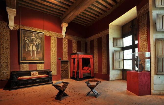 TOUR NORD-EST. ORATOIRE.CHAMBRE DE FRANCOIS Ier. Portrait par Ecole de CLOUET