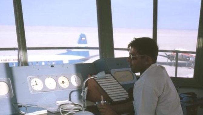 1960. AEROPORT DE DUBAI. LA TOUR DE CONTRÔLE . C* CuteeGroup