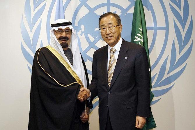 AVEC LE SECRETAIRE GENERAL DE L'ONU.