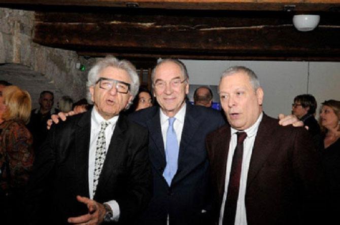 """20 Février 2014. """"L'ARTISANAT PROVENCAL.......""""  Jacques ROCCA SERRA entre André BENDANO à gauche et Francis GARNIER à droite."""