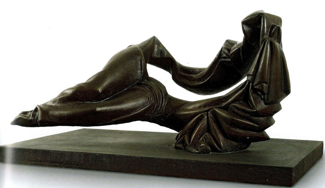 LE SILENCE 1988  BRONZE  52 X 113 X 64 cm. COLLECTION DE  L'ARTISTE.