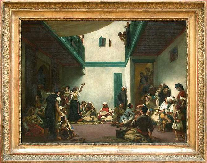 """""""NOCE JUIVE"""".Maroc 1841. E.DELACROIX (1798-1863).  LOUVRE"""
