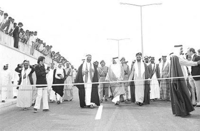 1975 . INAUGURATION DU TUNNEL DE SHINDAGHA RELIANT BEIRA à BUR DUBAI.
