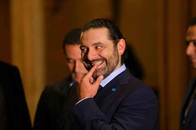 SAAD HARIRI, P.M. du Liban. Il a du se mordre le doigt pour s'être jeté dans la gueule du loup MBS.