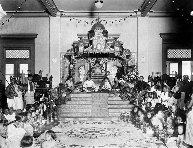 1925. CEREMONIE D'INTRONISATION DU SULTAN AMALUDDIN III AL SANI PERKASA ALAMSYAH, Xéme SULTAN DE DELI
