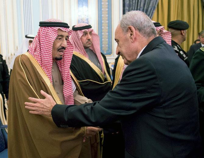 LE PRESIDENT DU PARLEMENT LIBANAIS NABIH BERRI PRESENTE SES CONDOLEANCES AU ROI SALMAN.