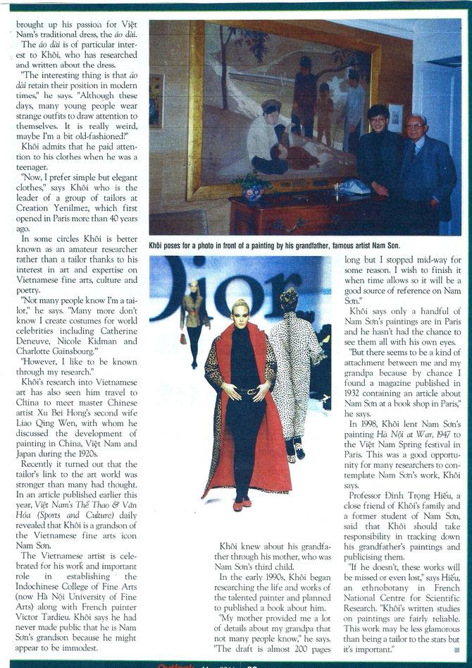 UNE ERREUR SOUS LA LEGENDE DE KIM-KHÔI AVEC LE PHO : LE TABLEAU EST DE LE PHO ET NON DE NAM SON. PHOTO PRISE PAR PAULETTE VAUX, EPOUSE DE LE PHO. OCTOBRE 1988.