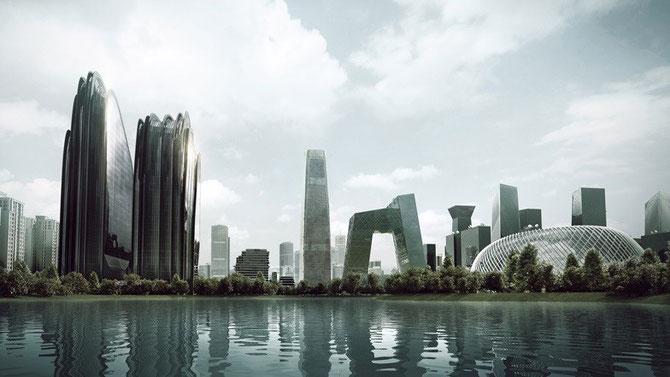 MAD'S .  MA YANSONG CONSTRUIT ACTUELLEMENT CHAOYANG PARK PLAZA à BEIJING. FINITION PREVUE EN 2016