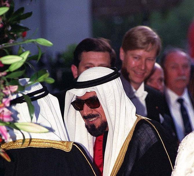 LONDRES; CLARIDGE. 25 MAI 1995. S.A L'EMIR JABER III AL-AHMAD AL-JABER AL-SABAH................ C* TIM GRAHAM