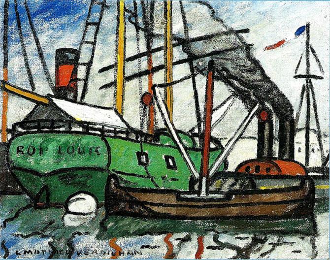 LE ROI LOUIS. Huile sur toile. signée en bas à gauche, 66,5  X 81 cm.  C* G. & A. PENTCHEFF