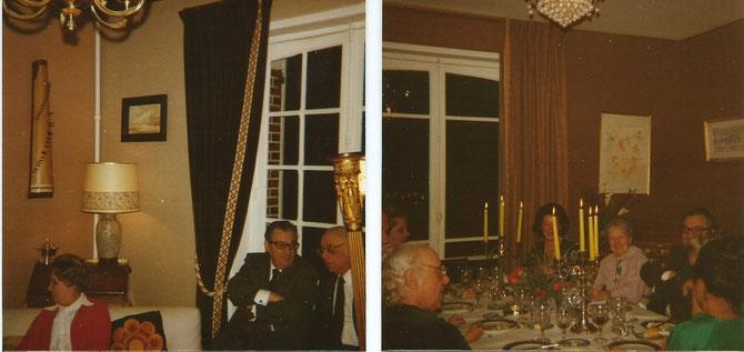 Pierre Monfrais et son épouse en rouge pour une dînette en l'honneur des soeurs Meynieu