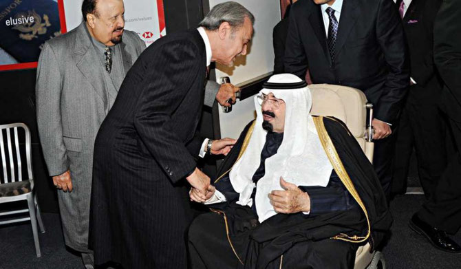 2010. SON ALTESSE ROYALE LE PRINCE SAOUD AL FAYCAL, MINISTRE DES AFFAIRES ETRANGERES SALUE SA MAJESTE VENUE SE SOIGNER  à NEW-YORK
