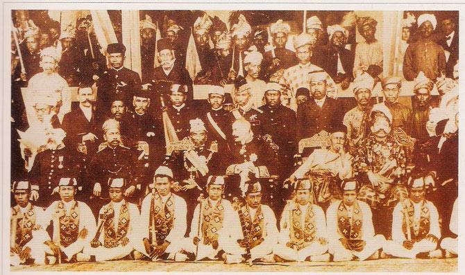 20 JUILLET 1903. KUALA LUMPUR. 2è DURBAR - ASSEMBLEE DES SOUVERAINS MALAIS
