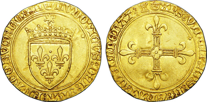 ECU D'OR A LA COURONNE (1461) . OR 3,43g