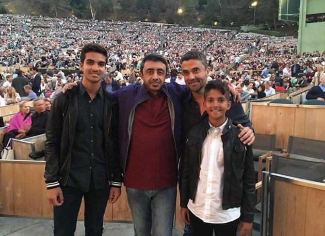 Eté 2016.  g.à dte. Saif 15 ans, S.A.R ABZayed, Son Exc. Omar Ghobash, Abdullah 12 ans