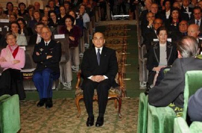 24 Nov. 2006.  Sa Majesté assiste à une Séance publique de l'Académie des Inscriptions et des Belles-Lettres