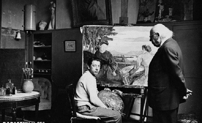 Paul CEZANNE Fils 1872+1947 et son grand-père Louis-Auguste CEZANNE 1798+1886. C* Roger  VIOLLET