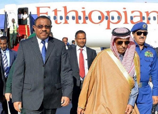 ETHIOPIE. Le Président HAILE MARIAM DESSALEGN (à gauche)
