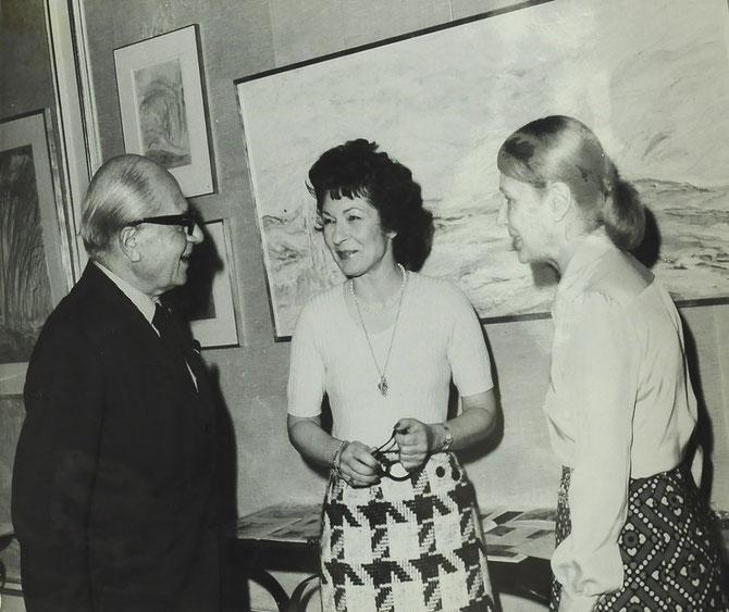 1977. EXPOSITION PEINTURE à PARIS. FOUAD SARRUF (1900-1985), REINE FARIDA (1921-1988), SOLANGE TARAZI (1923-1985).