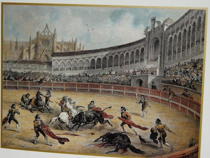 1842.  LA PLAZA DE TOROS , SEVILLE