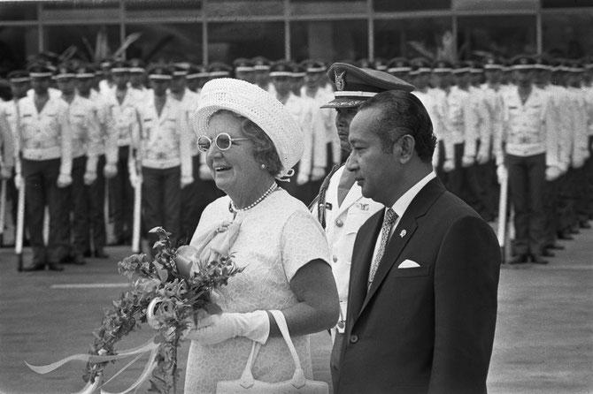 9 SEPTEMBRE 1971. VISITE DE LA REINE JULIANA DES PAYS-BAS.