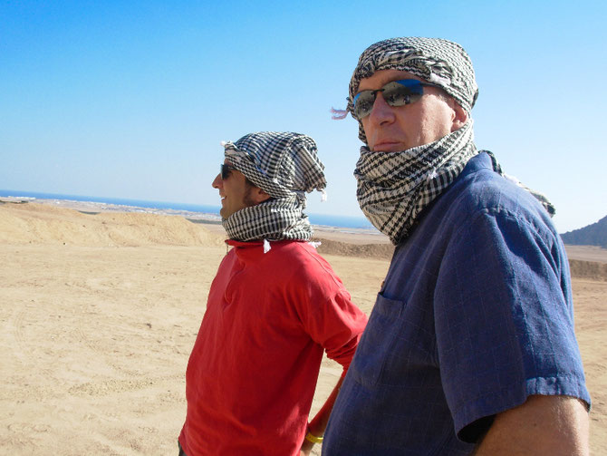 MER ROUGE. RAS QUISBAH. 22 Janv. 2007. Dr. Sam PURKIS et Captain Phil RENAUD -  Lawrence d''Arabie  -