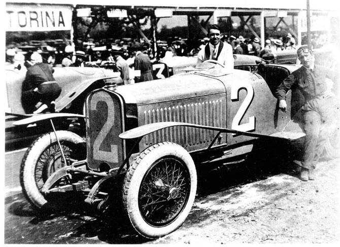 """1923 ESPAGNE . A.D. REMPORTE LE GRAND PRIX DU TOURISME   LASARTE  avec une  HISPANO-SUIZA H6 Type Boulogne N°2. . C* E. Lagarde - Angel Elberdin """"Circuito de Lasarte"""""""