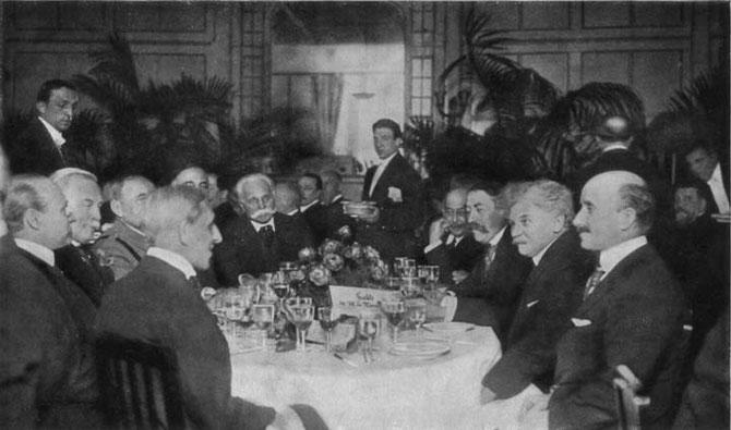 21 JANVIER 1921. DEJEUNER EN L'HONNEUR DE LA DELEGATION INTERNATIONALE AVEC :