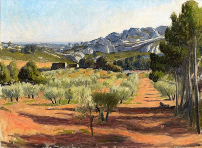 OLIVIERS DANS LES ALPILLLES huile sur toile 59 X 80cm. Collection particulière. C* A. Rabczuk..