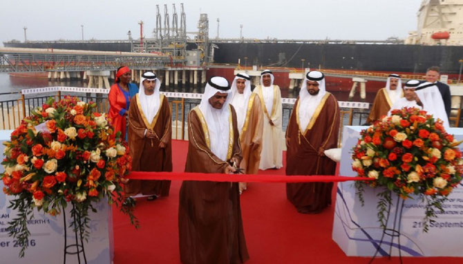 MERCREDI 21 SEPTEMBRE 2016.  CEREMONIE POUR LA RECEPTION DU PREMIER SUPER TANKER, THE KELLY : 334m. , 300.000 DWT