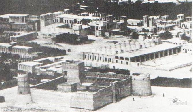 1936 . AU 1er PLAN ; FORT AL FAHIDI LE PLUS VIEUX BÂTIMENT CONSTRUIT EN 1799.