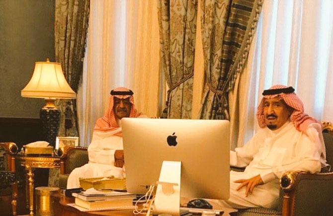 LE ROI SALMAN est venu présenter ses condoléances ainsi que le Prince héritier MBS.