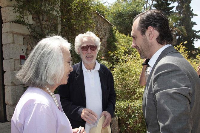 Mai 2013. LE PRESIDENT DES ÎLES BALEARES  José Ramon BAUZA en visite chez YANNICK et BEN.