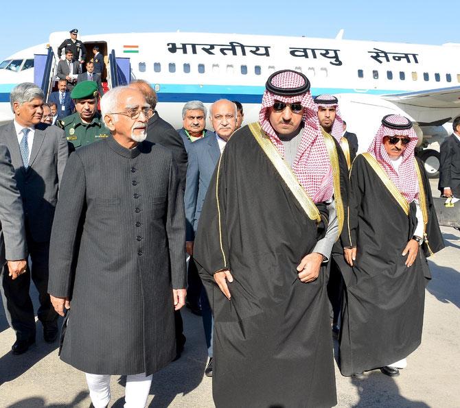 LE VICE-PRESIDENT INDIEN SHRI MOHAMMAD HAMID ANSARIM.